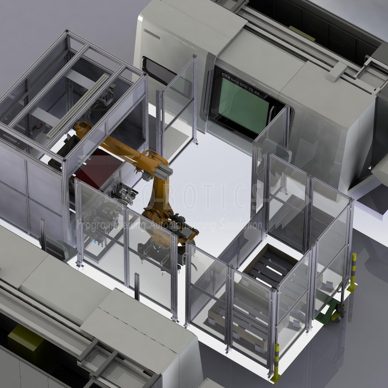 Maschinenbeladung mit 3D-Visionsystem